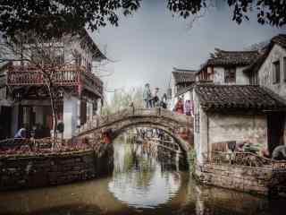 美丽的江南水乡之记忆中的周庄风景壁纸