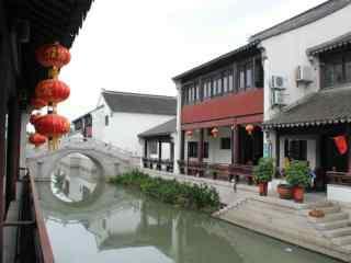 甪直古镇景点之江南文化园桌面壁纸