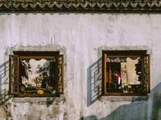 创意的南浔古镇风景照桌面壁纸