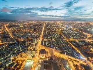 101大楼视角的台北风景桌面壁纸