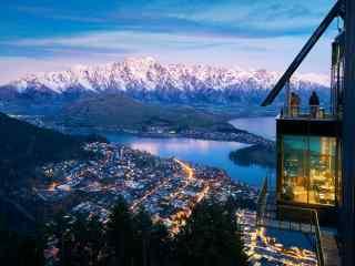 唯美新西兰皇后镇空拍风景壁纸