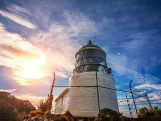 唯美新西兰的Nugget Point灯塔风景壁纸