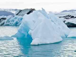 冰岛清新冰川自然风光桌面壁纸