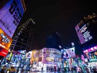 现代都市台北繁华夜景风景壁纸