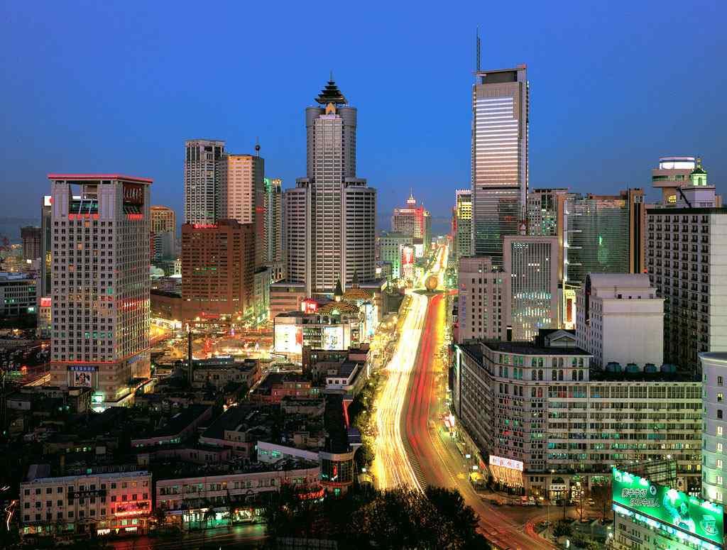 华灯初上大连城市夜景图桌面壁纸