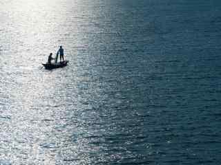 苏州太湖上的一页孤舟风景壁纸