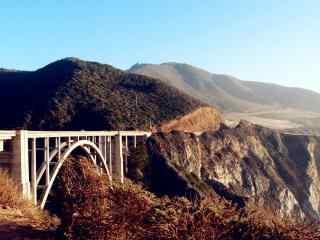加州一号公路美国公路秋天景色桌面壁纸