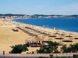 大连金沙滩度假风景桌面壁纸
