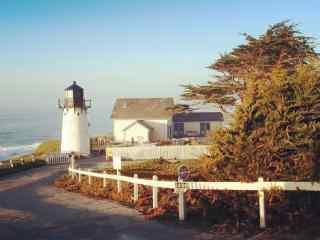 美国自驾游加州一号公路海岸灯塔桌面壁纸
