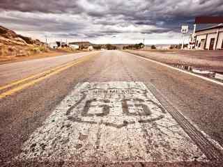 美国著名自驾游66号公路风景桌面壁纸