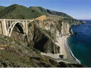 美国自驾游加州一号公路海岸唯美风景桌面壁纸