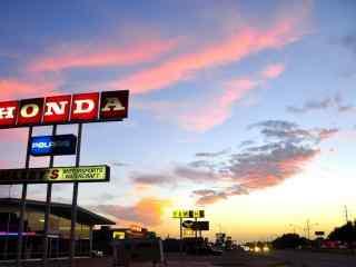 美国公路自驾游66号公路绮丽晚霞桌面壁纸