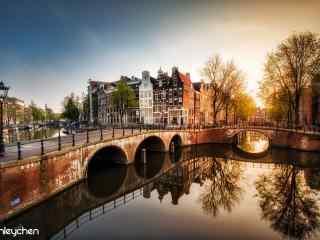 荷兰阿姆斯特丹城市风景桌面壁纸