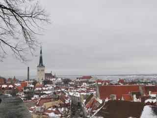 北欧城市雪景芬兰