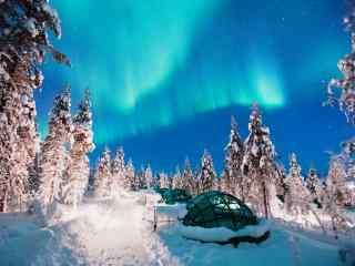 芬兰神秘唯美极光桌面壁纸