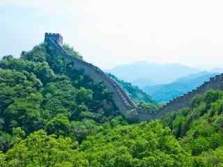 北京八达岭长城远处全景摄影桌面壁纸