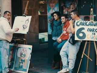 西班牙萨拉曼卡画肖像的蜀黍桌面壁纸