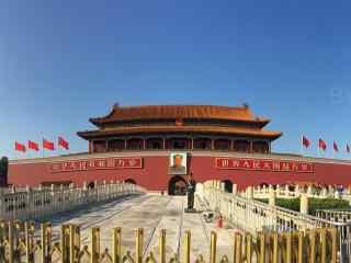 北京天安门全景拍摄桌面壁纸