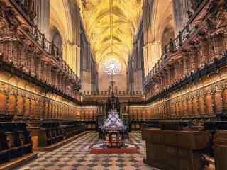 西班牙塞维利亚主教座堂桌面壁纸