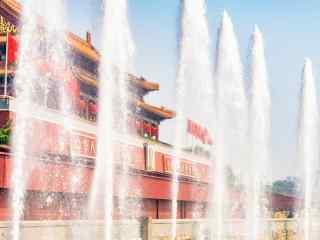 北京天安门喷泉桌面壁纸