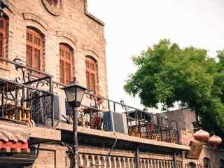 北京南锣鼓巷欧式建筑桌面壁纸