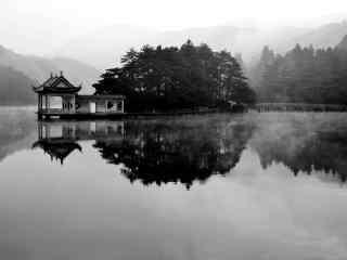 雾色朦胧中的庐山风景桌面壁纸第二辑(9张)
