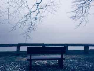 庐山文艺摄影简约灰色桌面壁纸