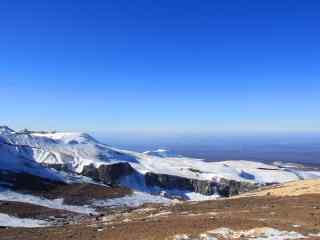 长白山山顶眺望风景壁纸图片下载
