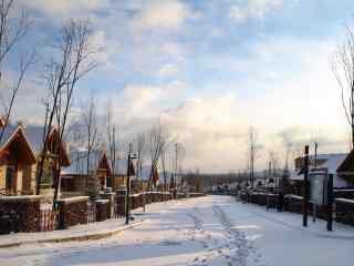 长白山度假村雪景壁纸图片下载