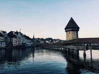 瑞士城市建筑风景