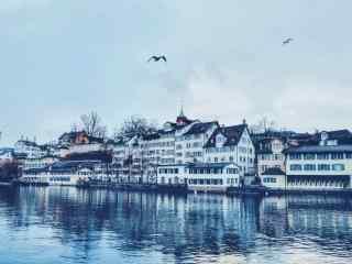 瑞士唯美城市风景桌面壁纸