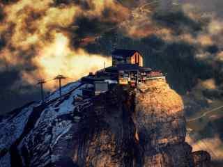 瑞士山顶壮丽风景摄影图片壁纸