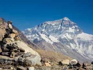 壮丽的珠穆朗玛峰图片桌面壁纸