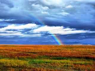 唯美的彩虹风光高清桌面壁纸