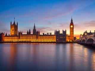 伦敦泰晤士河唯美