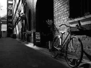 黑白简约单车摄影