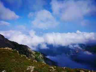 太白山晴朗云海风景壁纸图片电脑桌面