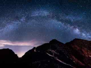 太白山唯美星空图片电脑桌面壁纸