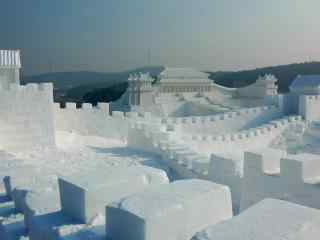 好看的冰雕风景桌面壁纸