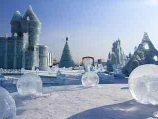 冰雕风景桌面壁纸
