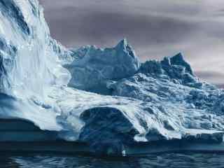 浩大的北极冰山图片桌面壁纸
