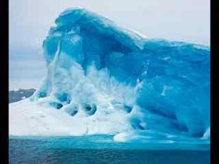 北极冰山风景图片桌面壁纸