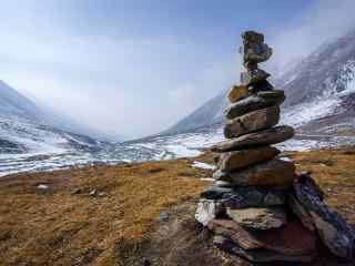 祁连山冰雪自然风