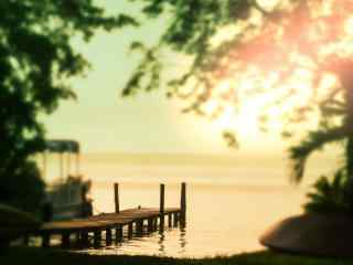 唯美清晨阳光风景