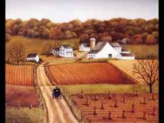 秋季农场风景图片壁纸