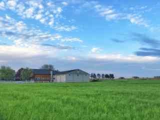 美丽的农场蓝天风