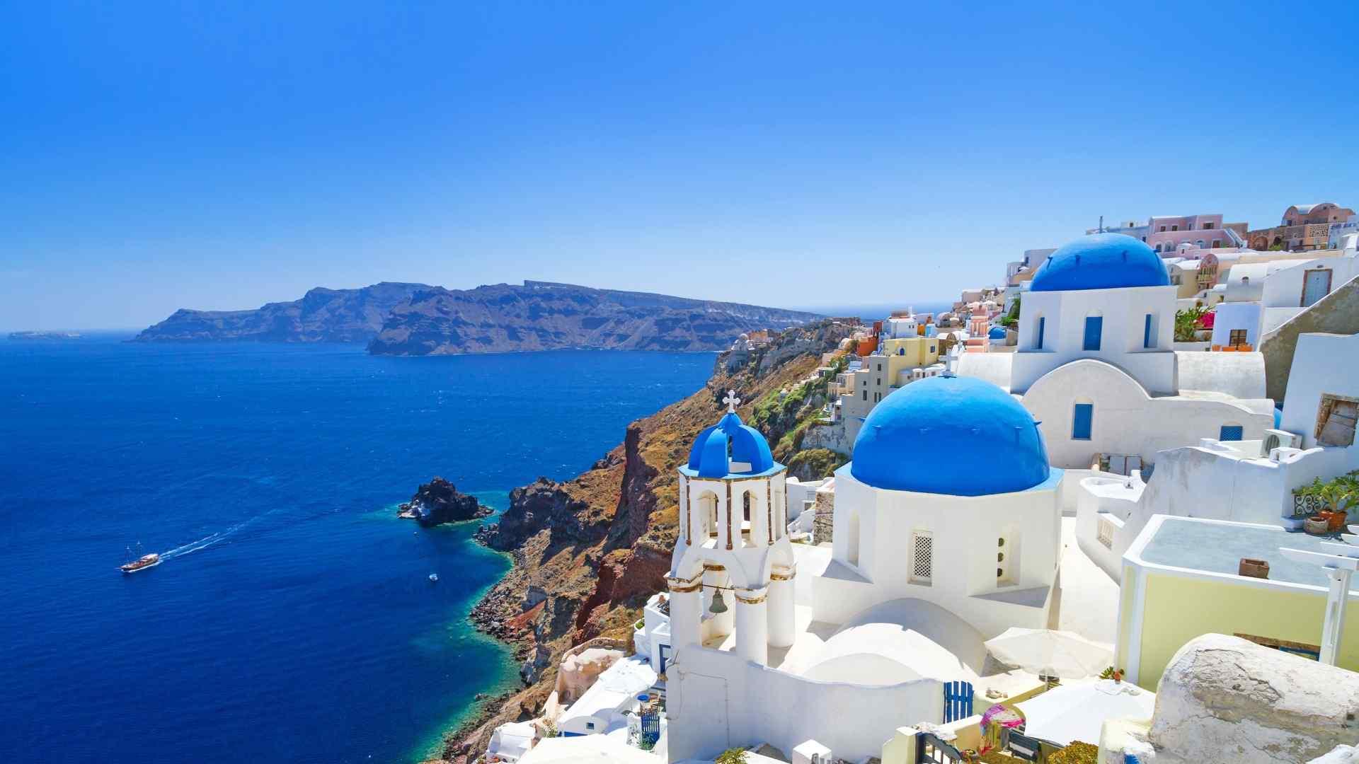 欧美风唯美蓝天风景图片高清桌面壁纸