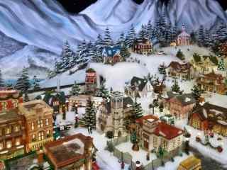 圣诞节城市风景高清桌面壁纸