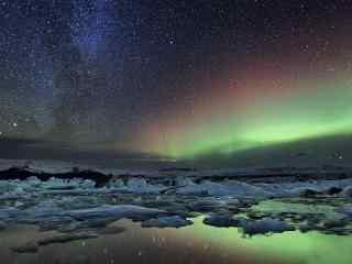 唯美冰岛极光高清