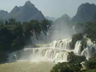 德天瀑布风景图片